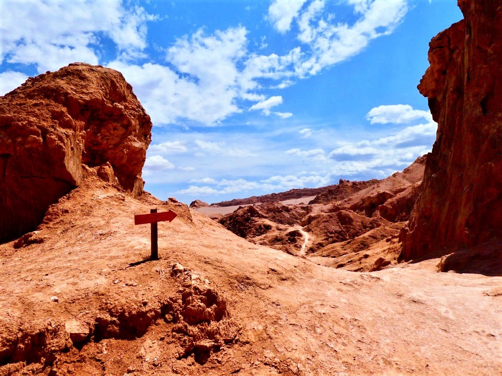 A lonesome path in moon valley, chile